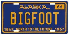 Bigfoot YETI Sasquatch metal 1966 Alaska License Plate