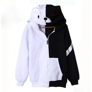 Unisex Clothing Anime Dangan Ronpa Monokuma Coat Cosplay Sweatshirts Hoodie