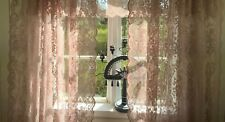 Vorhang LUCIA ALT ROSA Spitzen Gardine Rosen 2 x 120x240 Shabby Vintage curtain
