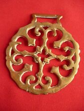 Solid Vintage Horse Brass - Geometric Cross Moline Design No 1