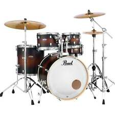 Pearl Decade Maple Drum Kit With Stands (or without) Satin Brown Burst finish