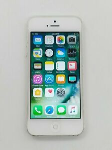 Apple iPhone 5 - 16GB - White & Silver AT&T A1428 (GSM) Unlocked IOS 9.0.2