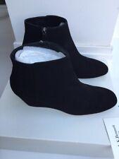 L.K. Bennett London KARINA BLACK SUEDE ANKLE BOOTS- UK 6 Brand New. RRP £250