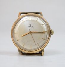 Vintage Collectible YEMA 17 Jewels France Swiss Gold Plated Wristwatch Watch