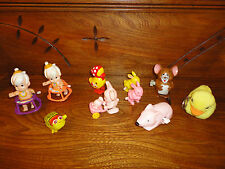 Vintage Wind Up Walking Toys Lot of 10 Assorted Bunny Bee Duck Mouse Flintstone