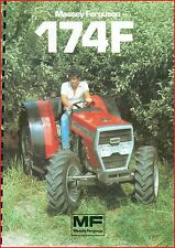French Original  Prospect  Tracteur Tractor Massey Ferguson MF 154 F_ 2 pages