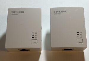 TP-LINK TL-PA2010 AV200 200Mbps Nano Powerline Adapter Pair Set Lot 2