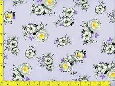 Spring Fling Flowers on Light Purple Quilting Fabric by the Yard #431b