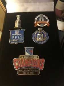 New York Rangers Hockey Pin Set 1994 Limited Edition #140/500 25th Stanley Cup