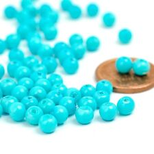 200pcs Turquoise Glass Pearl Spacer Beads Charms 4x4mm CA GP0001-16