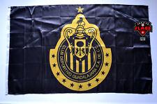 Chivas Guadalajara Flag Banner 3x5 Mexico Futbol Soccer Bandera Negra Black Gold