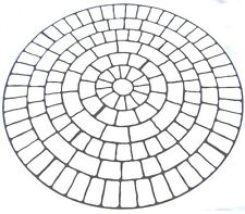 Large Cobble Circle Concrete Driveway Stencils for Patios, Decks, Brick, Stone