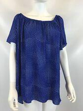 Vince Camuto Women's Blue Polka-dot Blouse Sz XL $79 I68