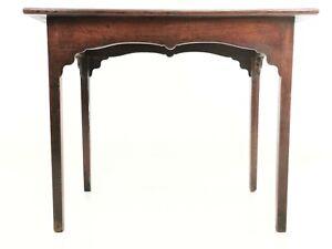 English Oak Antique 18th Century Side Table Desk