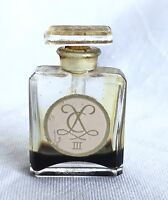 Vintage Glass Perfume Bottle with Stopper Chaqueneau K