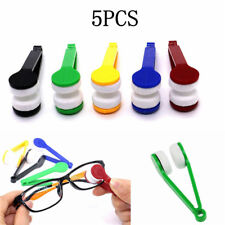 5pcs Mini Sun Glasses Eyeglass Microfiber Spectacles Cleaner Brush Cleaning Tool