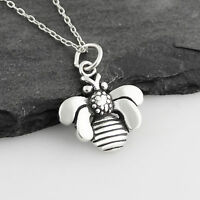 925 Real Sterling Silver Bee Hive Charm Sweet Honey Garden Bumble Bee Charms