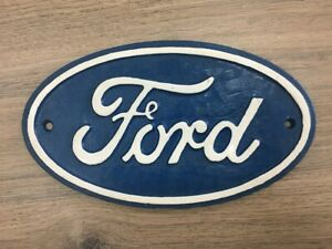 Cast Iron Ford Logo Sign