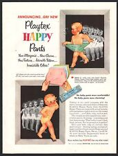1953 PLAYTEX Happy Pants Plastic baby pants for over Diapers PRINT AD