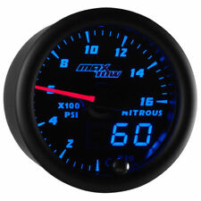 MaxTow 52mm Black & Blue 1,600 PSI Nitrous Pressure NOS Gauge - MT-BDV14