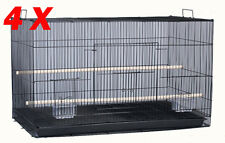 "NEW Lot of 30"" Large 4 Breeding Breeder Birds Cages With Stand BLK-479"