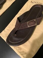Authentic Louis Vuitton Brown Damier Sandals Men's Sz 9