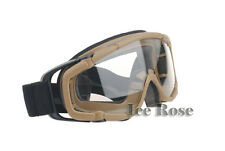 New Arrive Tan Outdoor Goggle Paintball Airsoft Glasses Anti Fog Ballistic
