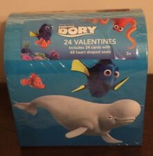 Disney Finding Dory Valentine Card Kit 24 ct. cards 48 ct. Heart Shaped Seals