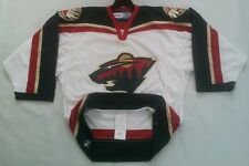 CCM CANADA AUTHENTIC CENTER ICE MINNESOTA WILDS JERSEY SIZE 48 HAS FIGHT STRAP