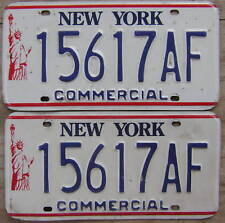 1987-2000 NEW YORK LIBERTY COMMERCIAL/TRUCK LICENSE PLATE # 15617AF  PAIR