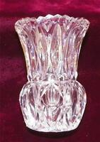 Vintage Crystal Vase Toothpick Holder Small Ellipse Pretty Dainty NICE CONDITION