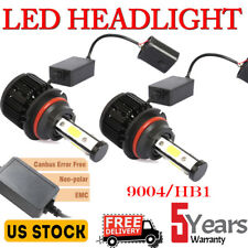 9004 HB1CANBUS  LED Headlight Hi-Lo Beam Conversion Kit 200W Lamp Bulbs 6000K 2X