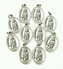 Lot of 10 St Peregrine Medals Pendant Patron Saint Cancer Patients-MADE IN ITALY