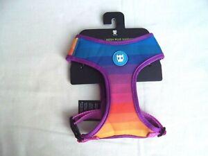 Zeedog rainbow design mesh dog harness, chest size small 33.5 - 50 cm chest new