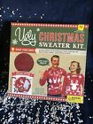 Ugly Christmas Sweater Kit Red Size M Boxed Special Edition Reindeer & Snow New