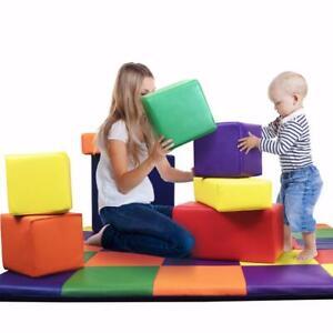 DreamTree Kids COLORED Soft Foam Blocks multiple sizes stackable safe for kids