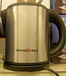 Low Wattage Cordless Swiss Luxx Kettle Caravan 1L Stainless Steel Low Watt 240v
