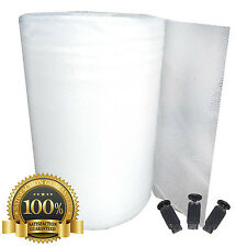 More details for greenhouse bubble insulation   tri laminated   1.5m wide   optional fixing clips