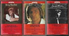 Barry Manilow lot of 3 Audio Cassettes This One's For You, 20 Hits, Greatest V10