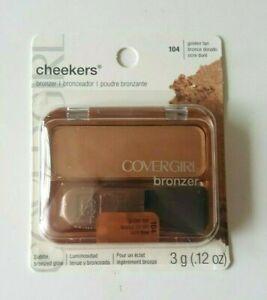 Covergirl Cheekers Powder Bronzer Face Makeup~ 104 Golden Tan~ 0.12 oz NEW