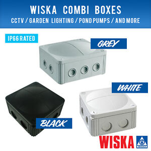 WISKA COMBI BOXES CHOICE OF COLOURS AND SIZES CCTV WEATHERPROOF JUNCTION BOXES