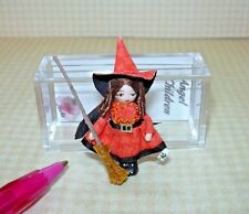 """Miniature Ethel Hicks """"Wee Halloween Witch"""" DOLLHOUSE Miniatures 1:12 Scale"""