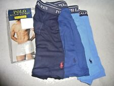 "NEW - POLO RALPH LAUREN PKG OF 3 ""PONY"" BOXER BRIEFS - MEN'S LARGE - RETAIL $40"