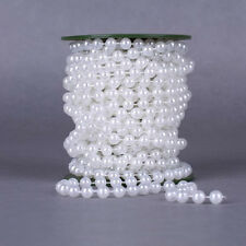10M/Roll Bead Pearl String Trim For Craft , Party Wedding Home Decor 3Colors