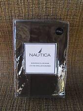 """1 Nautica European Pillow Sham Brown 26""""x26"""" Goes w/ Brewster Plaid Bedding Euro"""