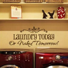 Laundry Today or Naked Tomorrow Removable Wall Sticker Home Decor Wall Decals 23