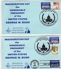 2001 Group of 2 Different George W. Bush Masonic Club Inaugural Covers