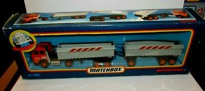 Matchbox Super Kings K-145 Iveco Twin Tippers Orange & Silver MIB RARE