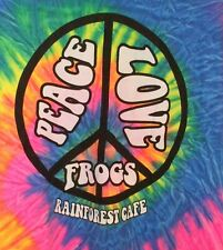 Rain Forest Cafe Pease, Love, Frogs Tie Dye T Shirt Landry's