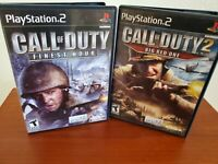 Call of Duty: Legacy Sony PlayStation 2 Big Red One Finest Hour w/Manuals